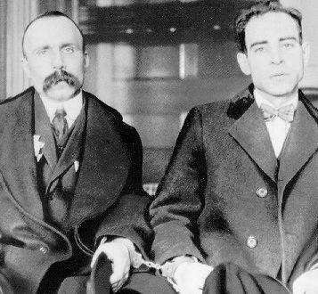 Nicola Sacco e  Bartolomeo Vanzetti.
